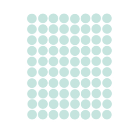 Stippen muurstickers licht mint - 120 stuks - 2x2cm