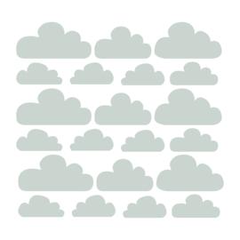 Wolken muurstickers