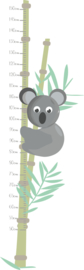 Jungly jungle - Koala met bamboe meetlat muursticker