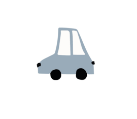 Auto muursticker grijs blauw - 5 stuks - 10x11cm