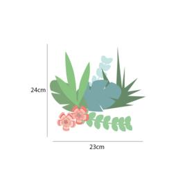 Jungly jungle - Bladeren en takjes muurstickers set 1 - 23x24cm