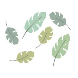 Tijger Tiggie - Groene bladeren muursticker set