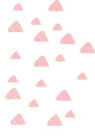 Indianen dieren - Roze driehoek muurstickers 20st - 4x4cm+3x3cm