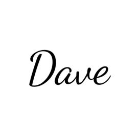 Naam muursticker - Lettertype Dave