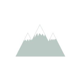 Bergen muurstickers - oud mint - 70x45cm