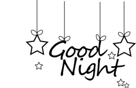 Tekst muursticker - Good Night - Inclusief sterren