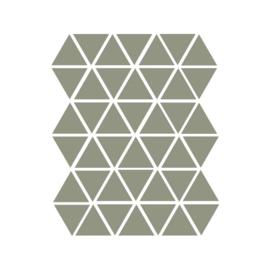 Driehoek muurstickers leger groen - 45 stuks - 4,5cmx4,5cm