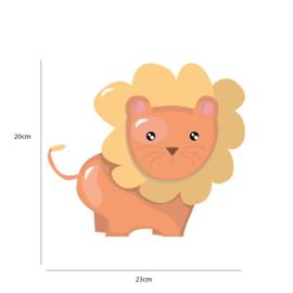 Jungly jungle - Leeuw muursticker - 23x20cm