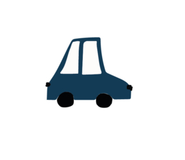 Auto muursticker donker blauw - 5 stuks - 10x11cm