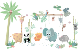 Jungly jungle - Complete set muurstickers