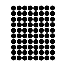 Stippen muurstickers zwart - 120 stuks - 2x2cm
