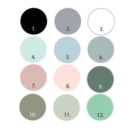 Driehoek muurstickers 1 kleur - 45 stuks - 4,5x4,5cm (Diverse varianten)