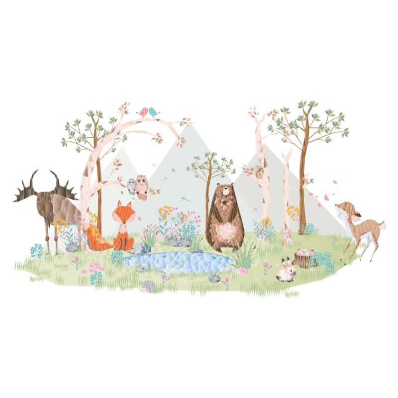 Diamond Forest Friends - Complete muursticker collectie