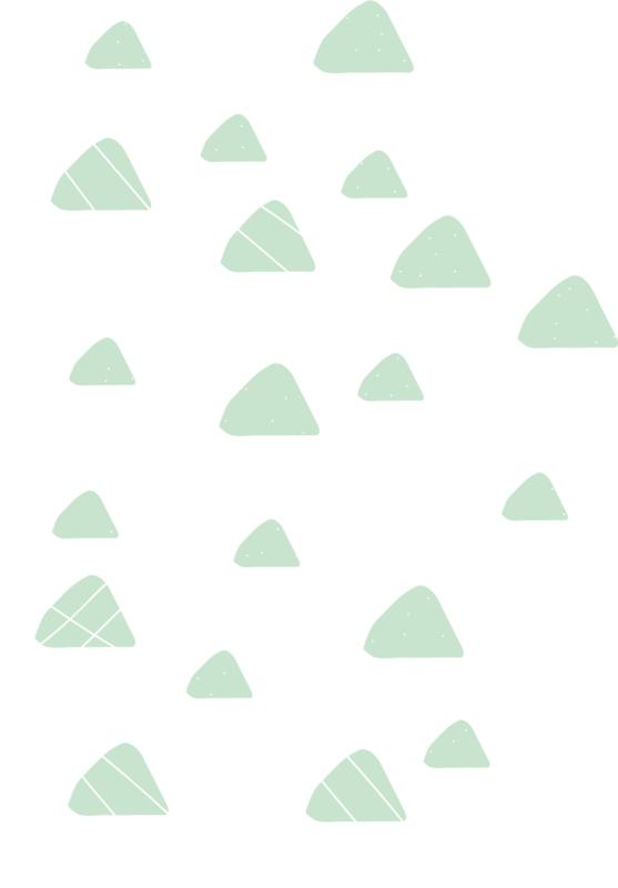 Indianen dieren - Licht groene driehoek muurstickers 20st - 4x4cm+3x3cm