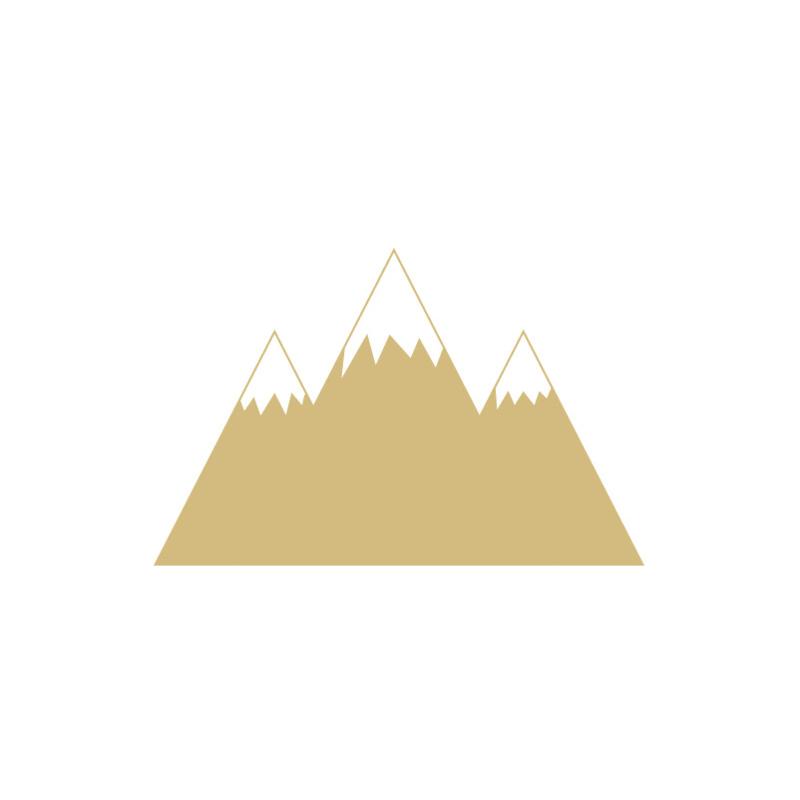 Bergen muurstickers - oker geel - 70x45cm