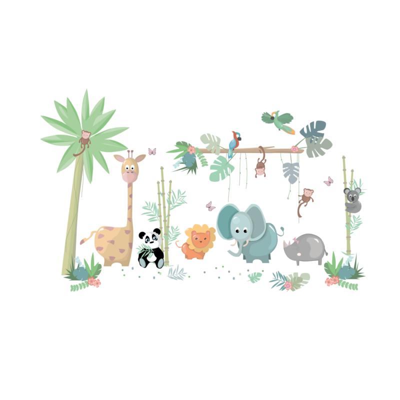 Jungly jungle - Complete set muurstickers
