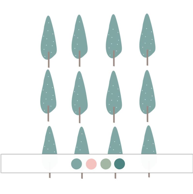 Indianen dieren - Bomen muurstickers 12st - 5x16cm (Diverse varianten)
