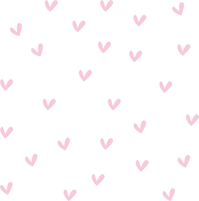 Hartjes muurstickers licht roze - 100 stuks - 2x2cm
