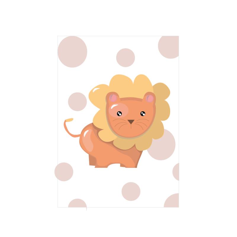 Jungly jungle - Leeuw poster -  A4/A3