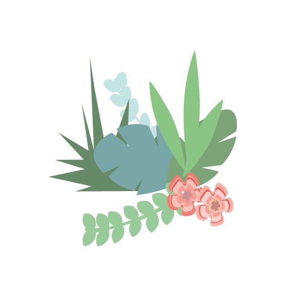 Jungly jungle - Bladeren en takjes muurstickers set 3 - 22x23cm