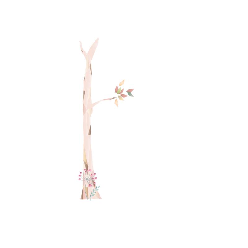 Diamond Forest Friends - Boom 3 muursticker