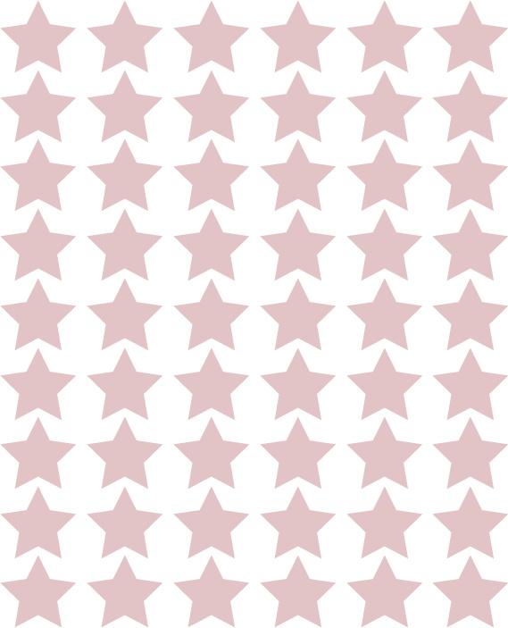 Sterren muurstickers bruin roze
