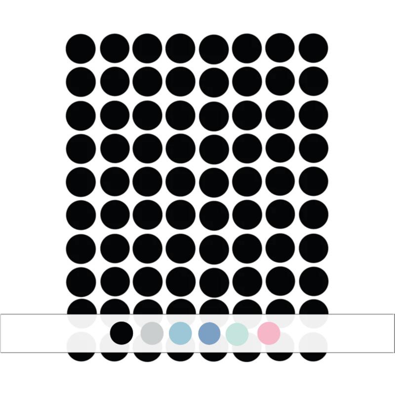 Stippen muurstickers - 120 stuks - 2x2cm (Diverse varianten)