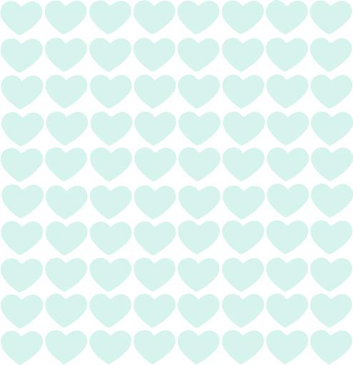 Hartjes muurstickers licht blauw - 80 stuks - 2x2cm