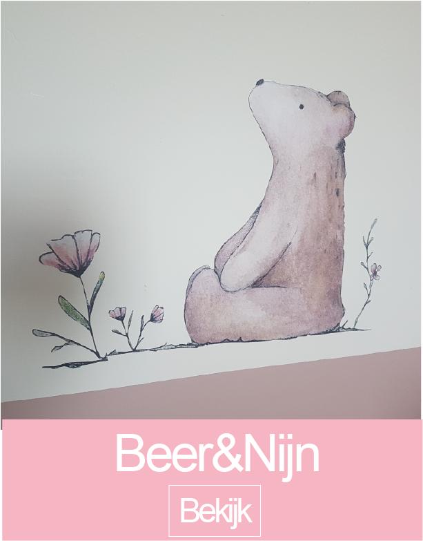Beer en nijn muursticker collectie