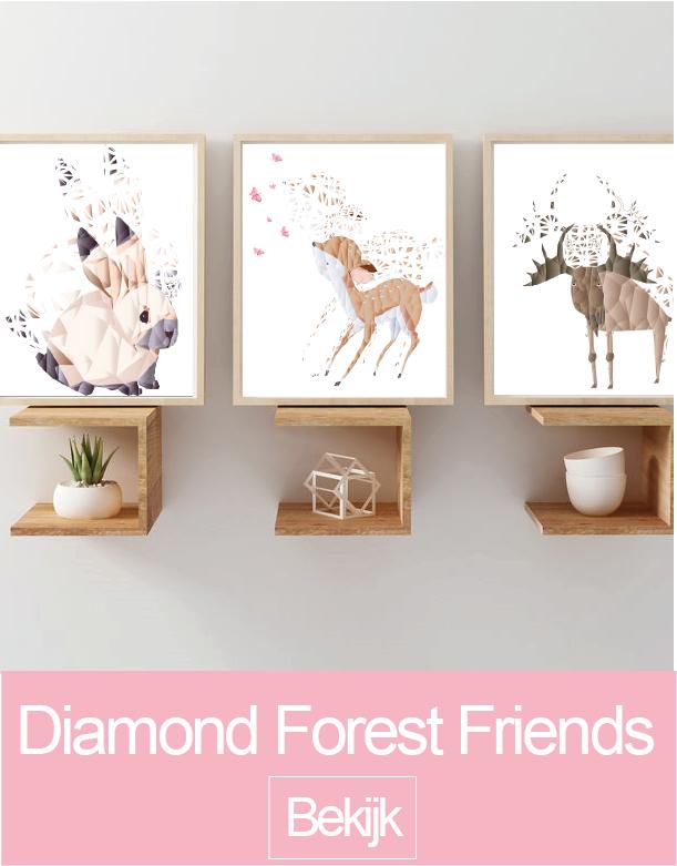 Diamond Forest Friends muursticker collectie