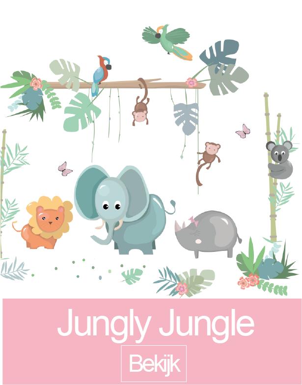 Jungly Jungle muursticker collectie