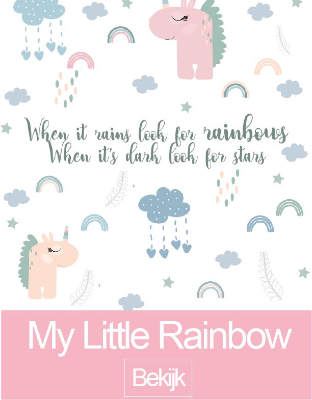 My little rainbow muursticker collectie
