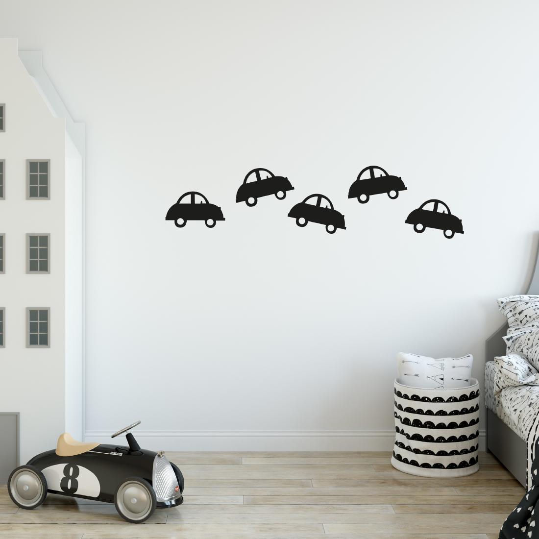 Zwarte auto muurstickers