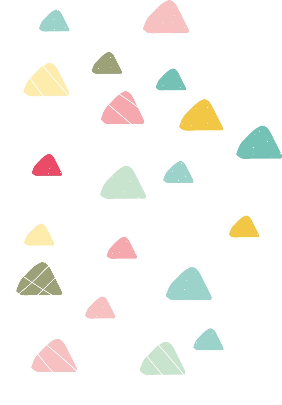 Gekleurde driehoek muurstickers
