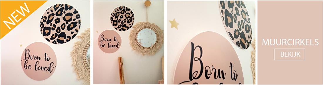 Nieuw; muurcirkels in de babykamer