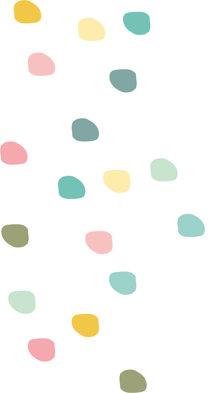 Gekleurde stippen muurstickers