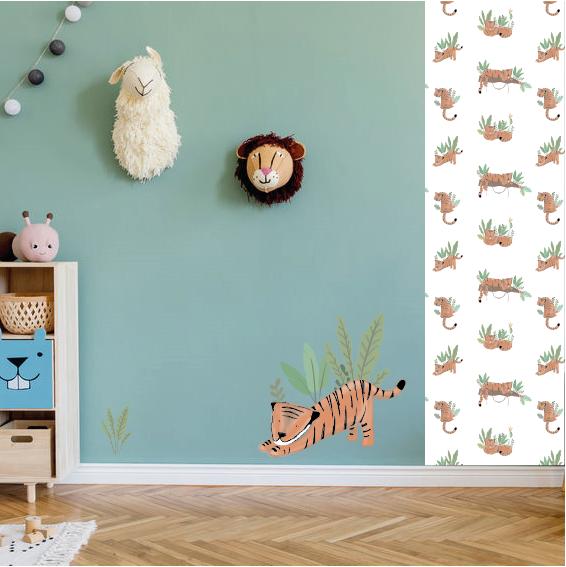 Tijger Tiggie muurdecoratie - tijger muurstickers