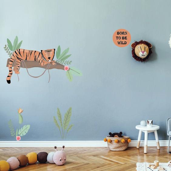 Tijger Tiggie muurstickers met tijger thema