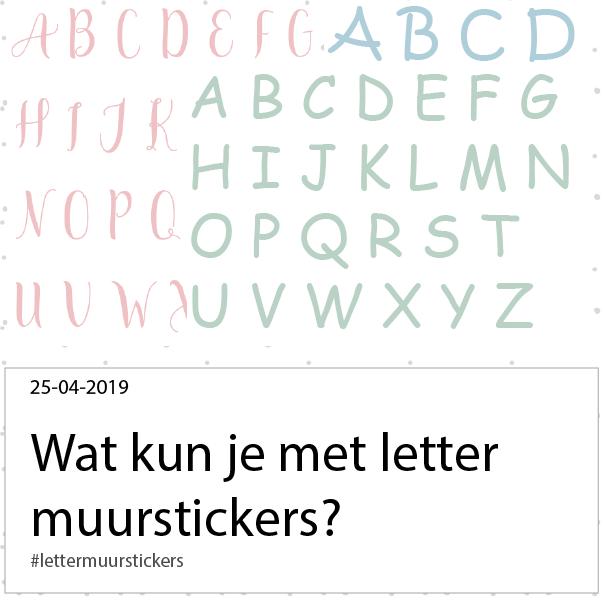 wat kun je met letter muurstickers?