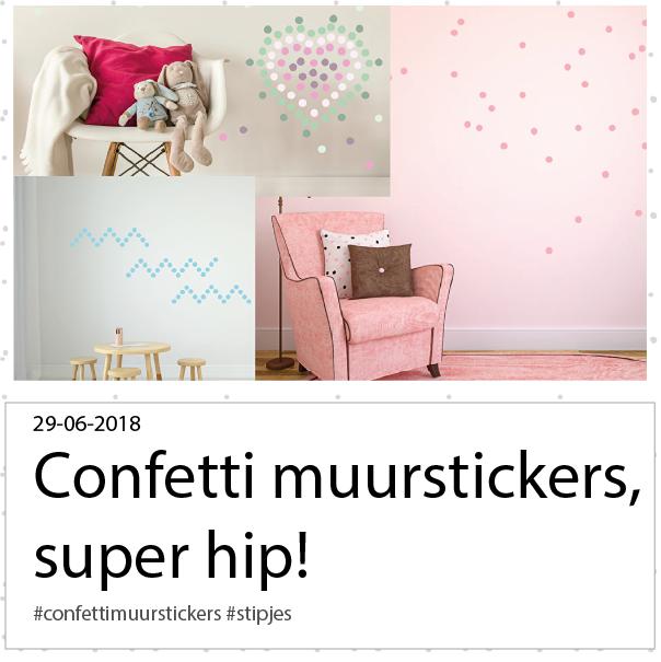 confetti muurstickers