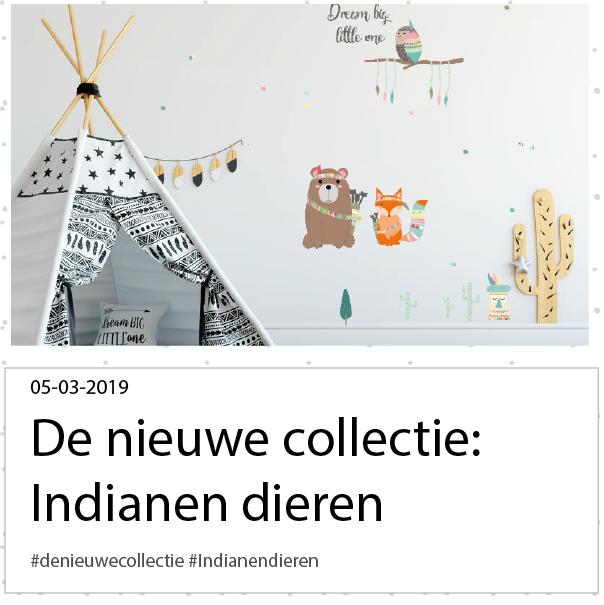 De nieuwe collectie; indianen dieren muurstickers