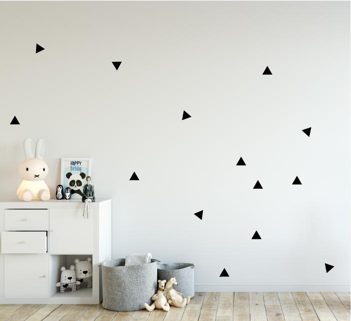 Zwarte driehoek muurstickers kopen