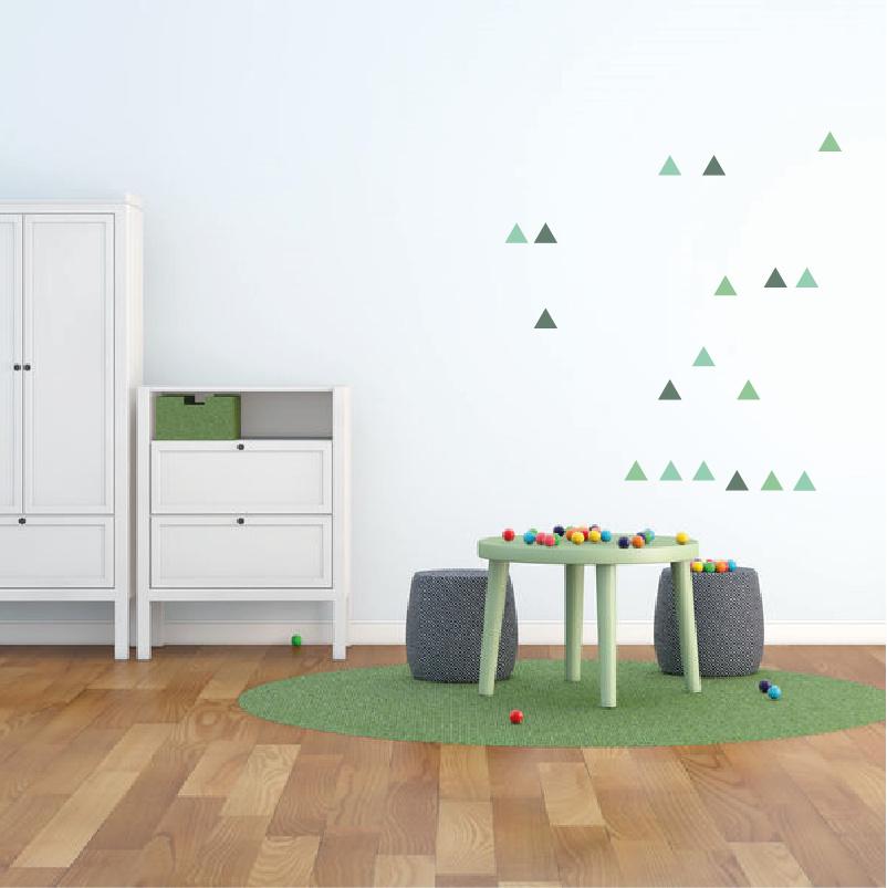 Groene driehoek muurstickers