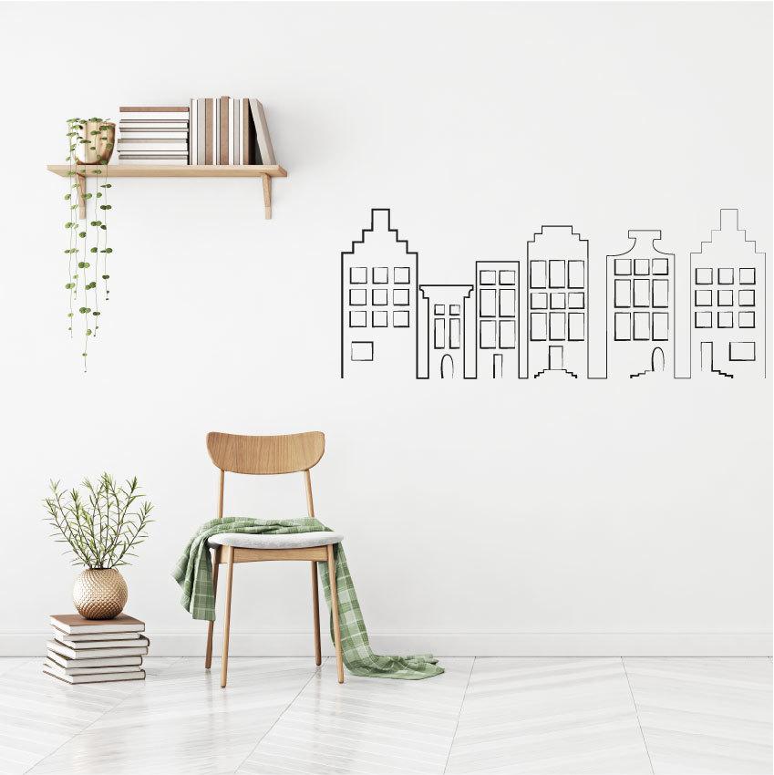 Huisjes muurstickers