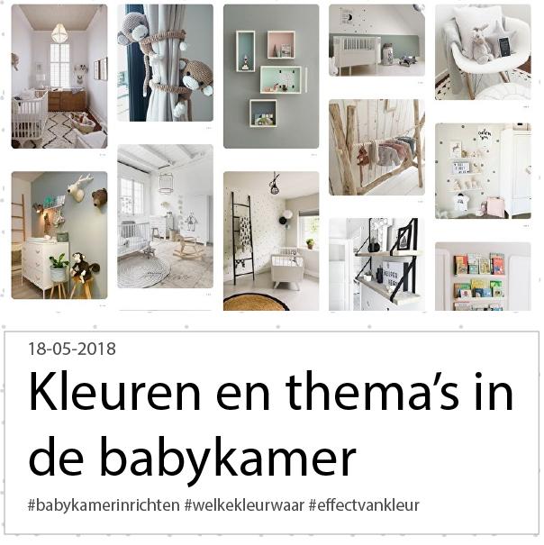kleuren in de babykamer
