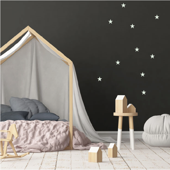 witte sterren muurstickers