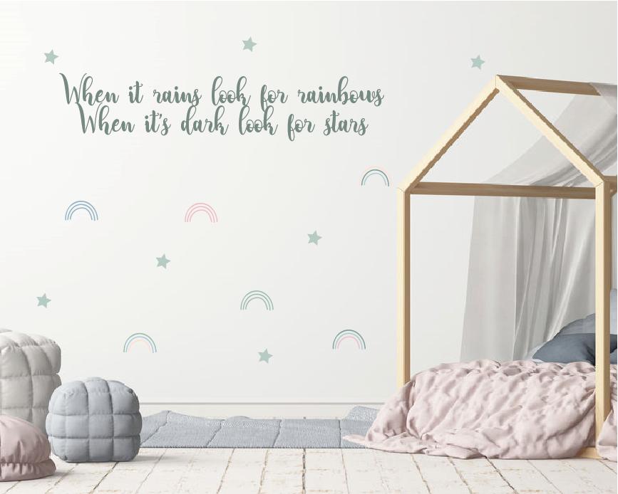 tekst muursticker voor de babykamer