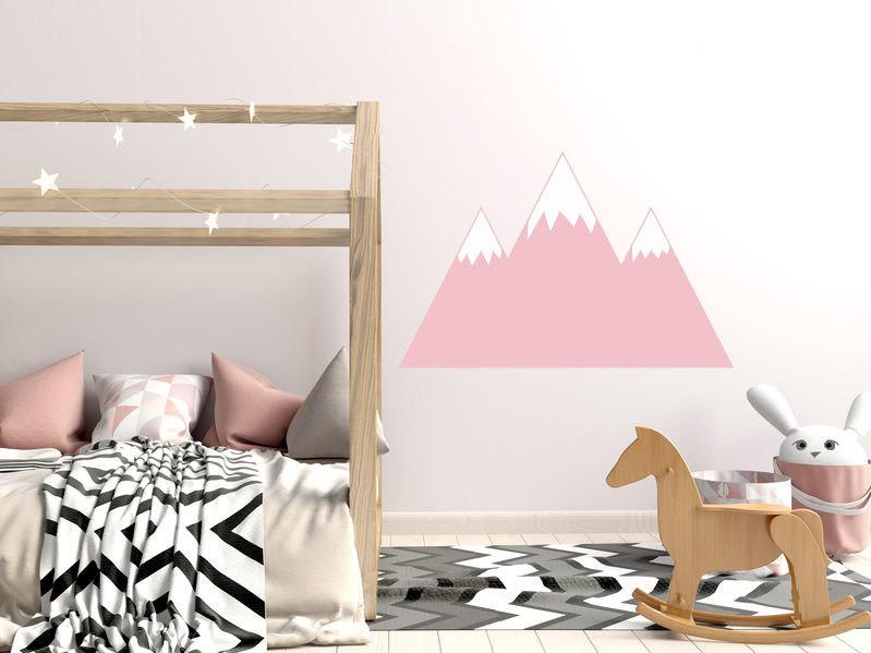 roze bergen muurstickers