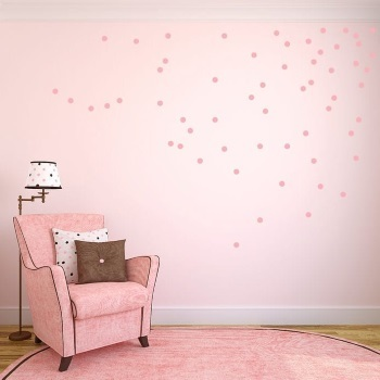 Roze stipjes muurstickers