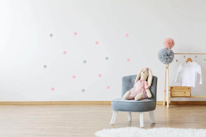 roze en grijze confetti stipjes